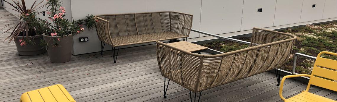 Comment aménager un espace extérieur ou une terrasse d'entreprise  ?