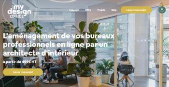 Mise en ligne de mydesignoffice, la première plate-forme web d'aménagement de bureaux d'entreprise